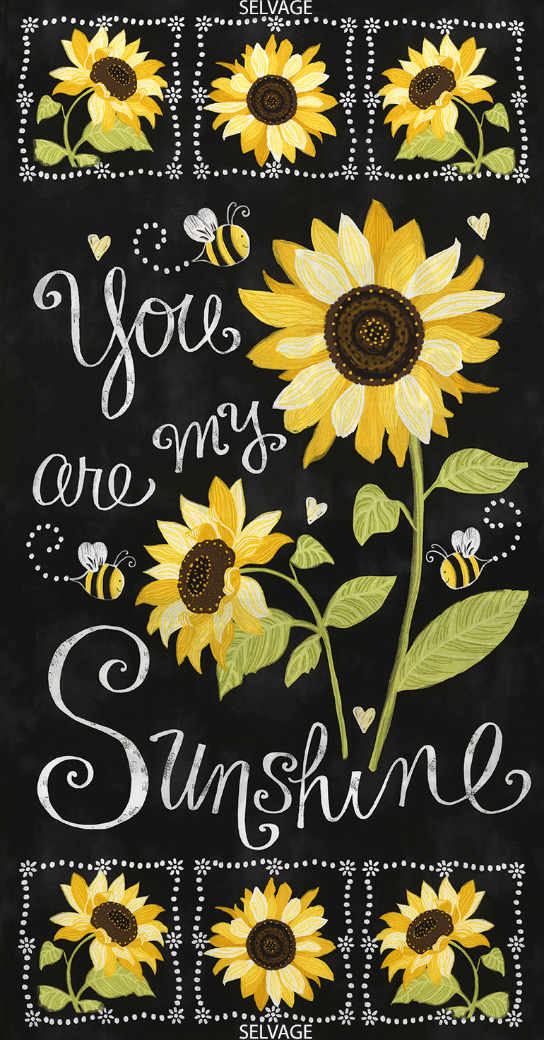 Sunflower Chalkboard - Panel