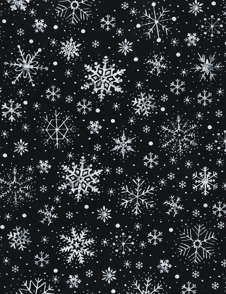 Gail C6886 Black Chalk Snowflakes