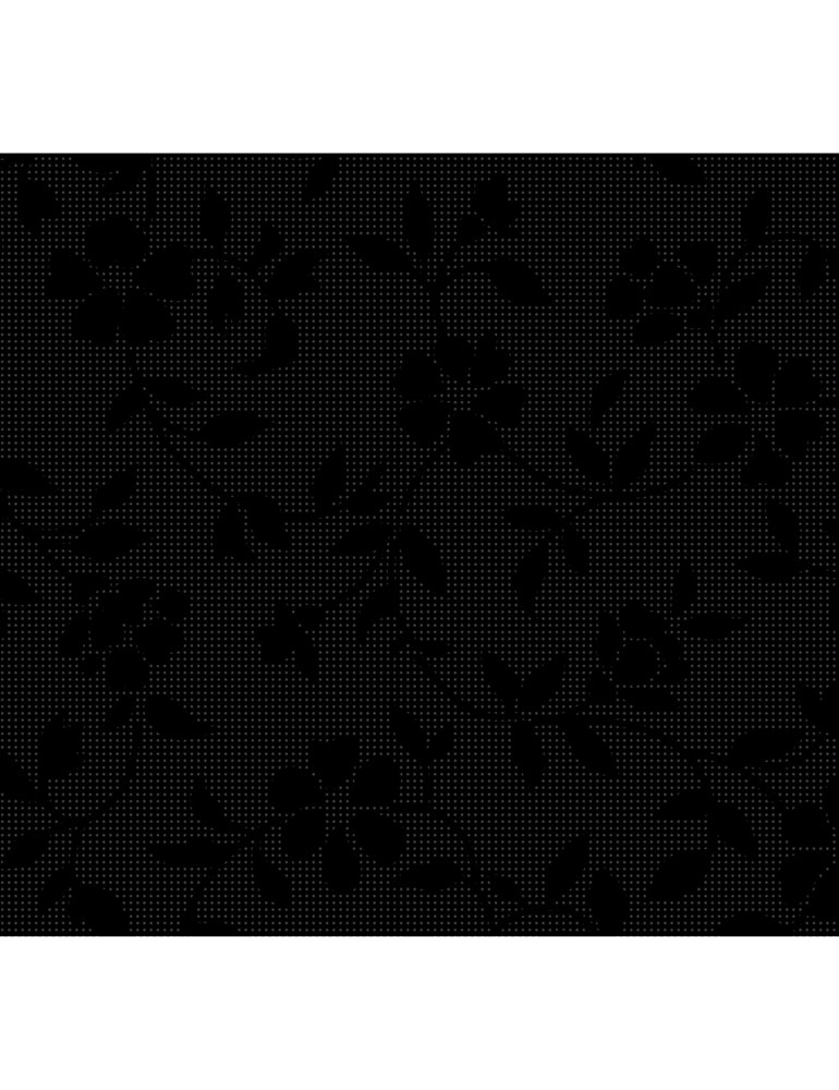 Delicate Flowers Black C7094