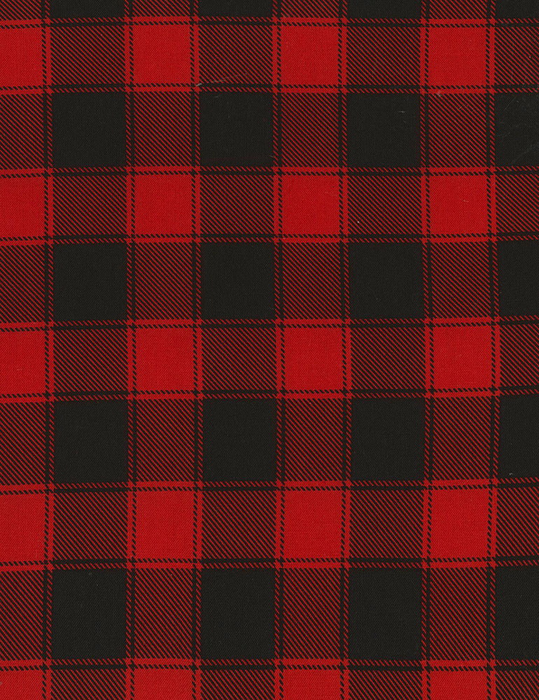0-Red and Black Buffalo Check