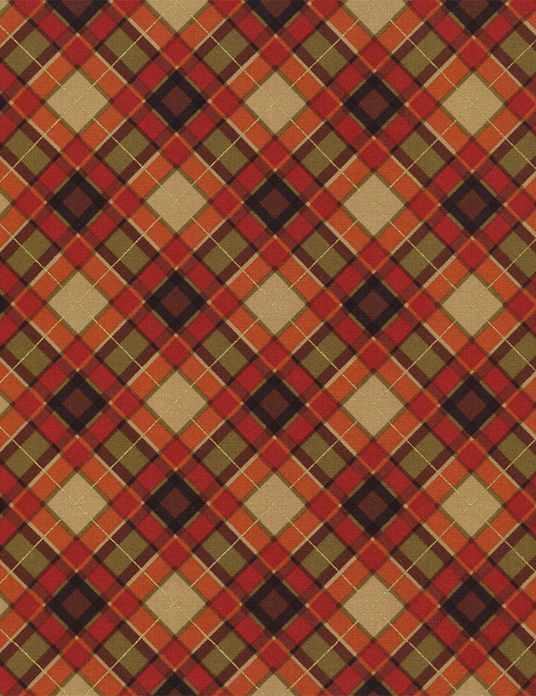 Holiday Harvest Bias Plaid CM4277