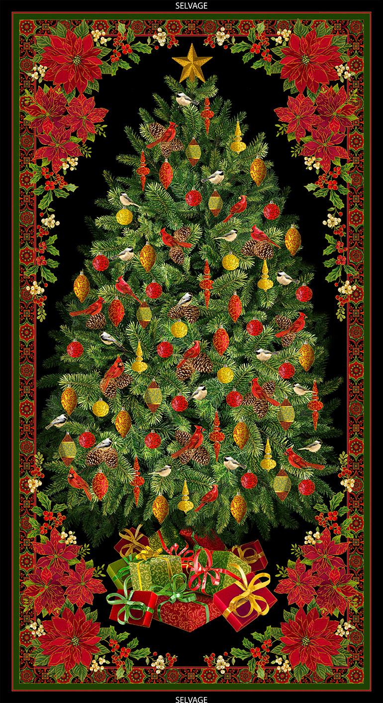 CHRISTMAS TREE PANEL W/METALLIC