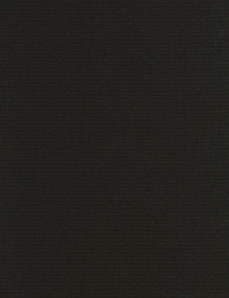 Feelgood Words Grey on Black C6075-Black