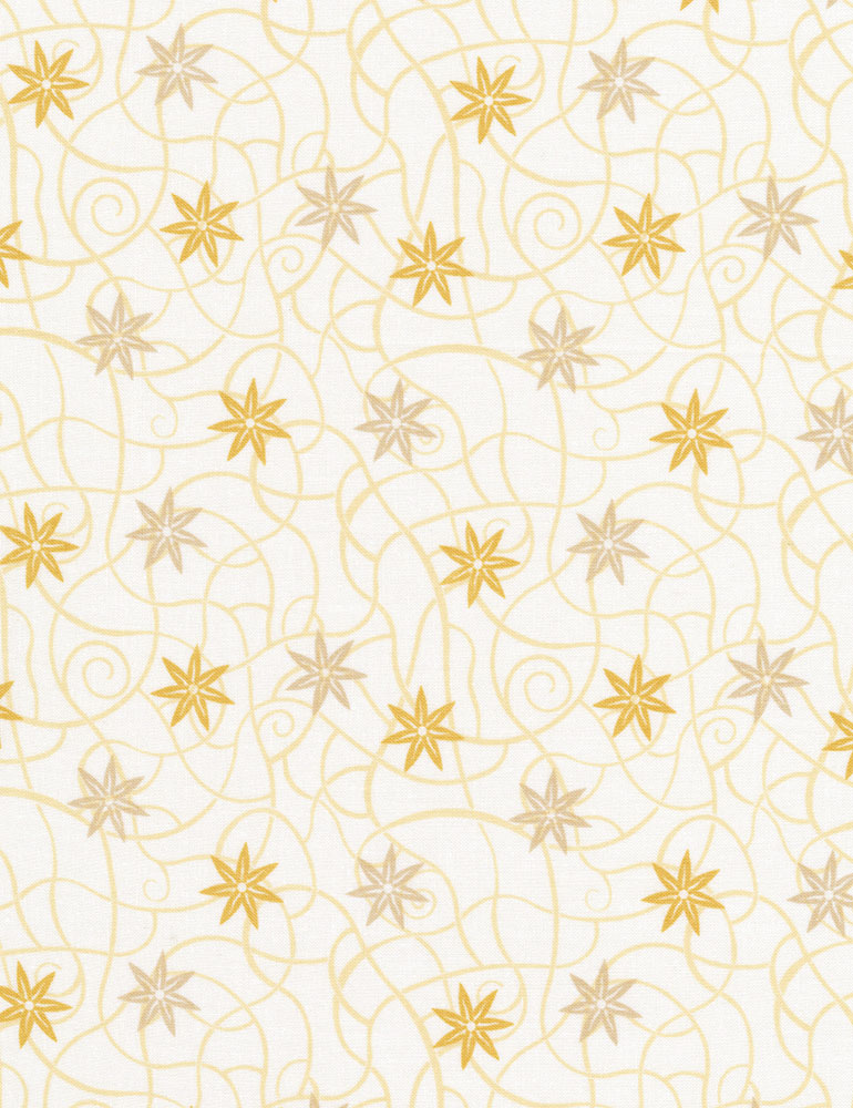 Desert Rose C7418-Cre Dancing Flower Pattern