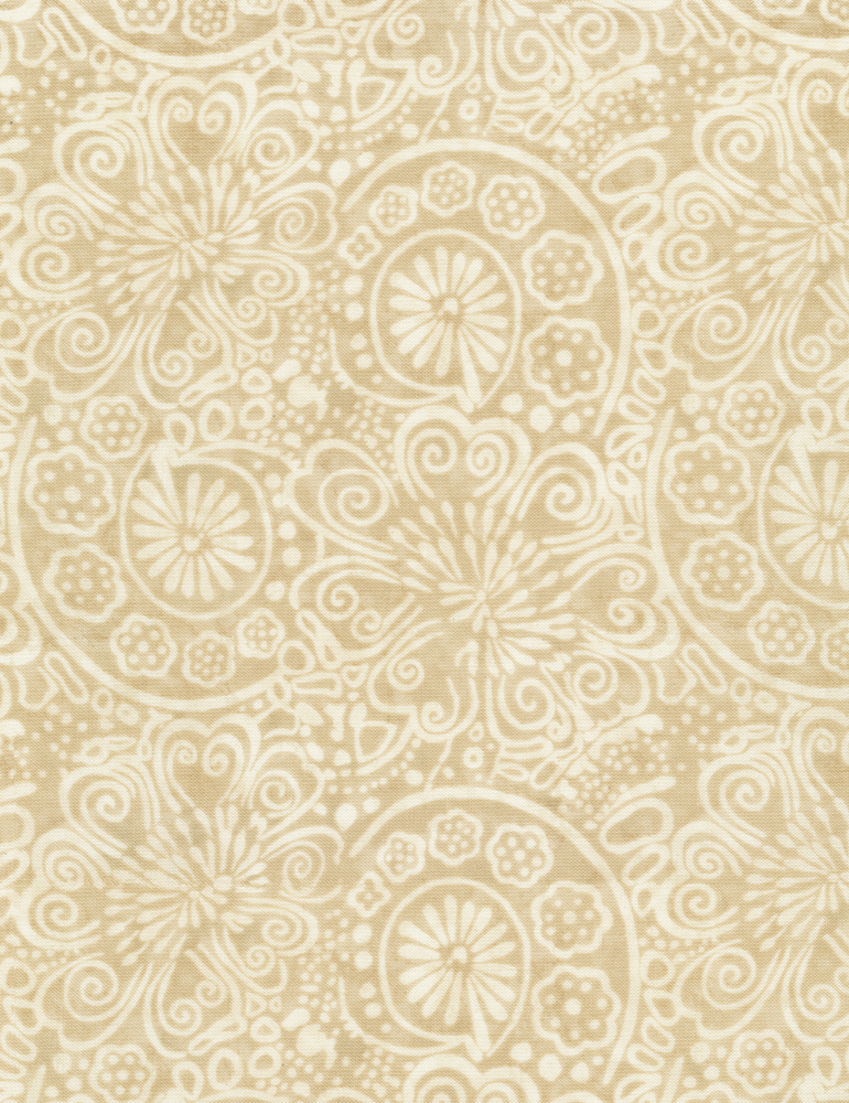 Flower Scrolls JT-C6909-Cream