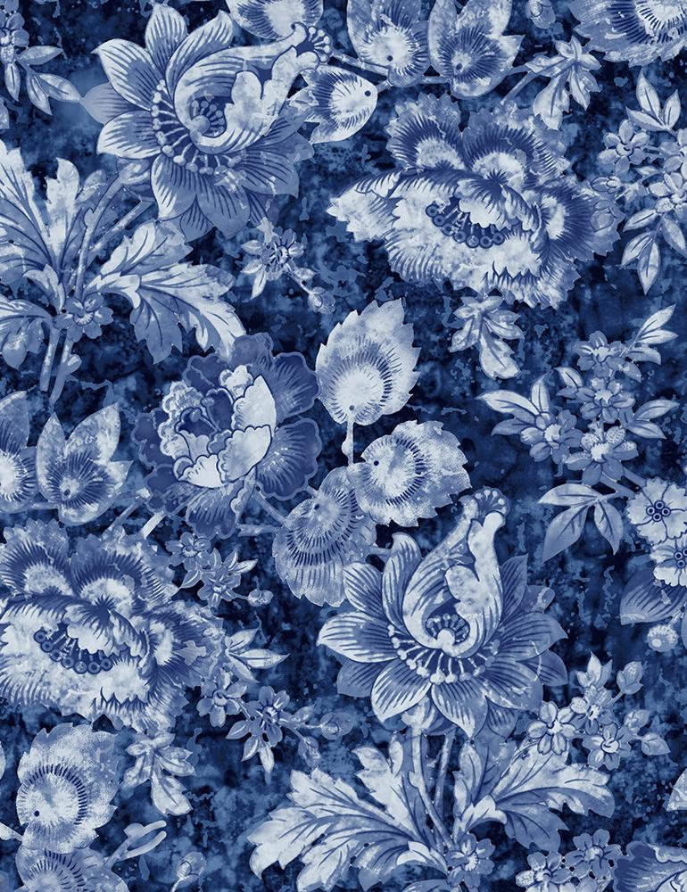 London Blues Packed Stamp Florals Blue JT-C7423-Blue