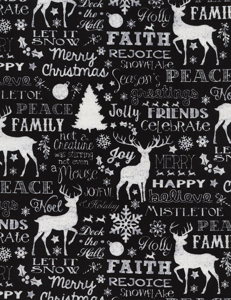 TT-Joy-C4620 Black Christmas Words