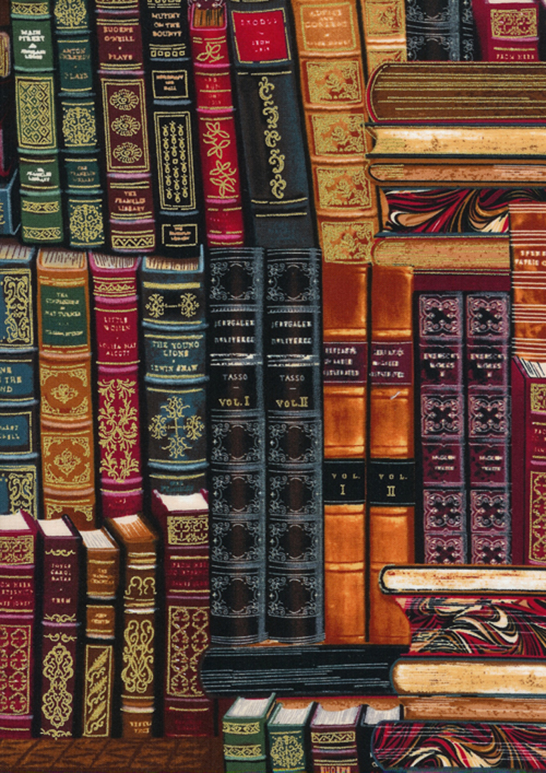 LIBRARY BOOKS Fabric by the yard