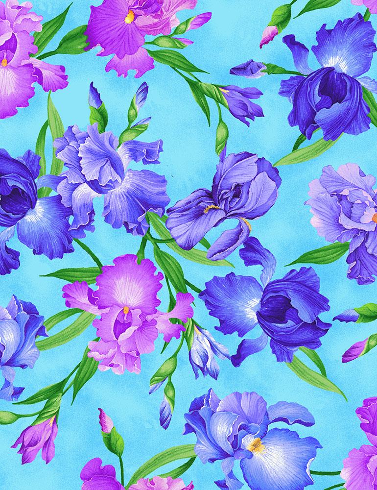 All Over Iris - Chong-A Hwang - Timeless Treasures
