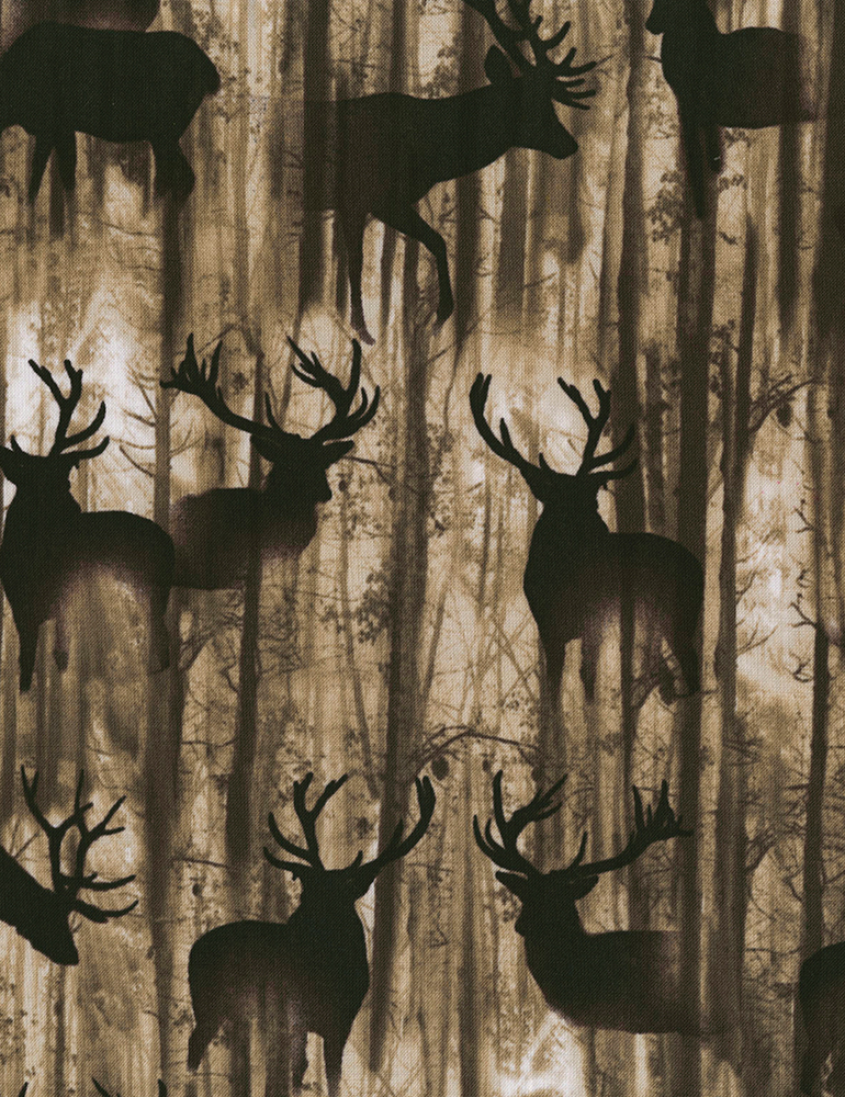 Deep In The Woods - Nature -C6687 - Deer Silhouette - Cedar
