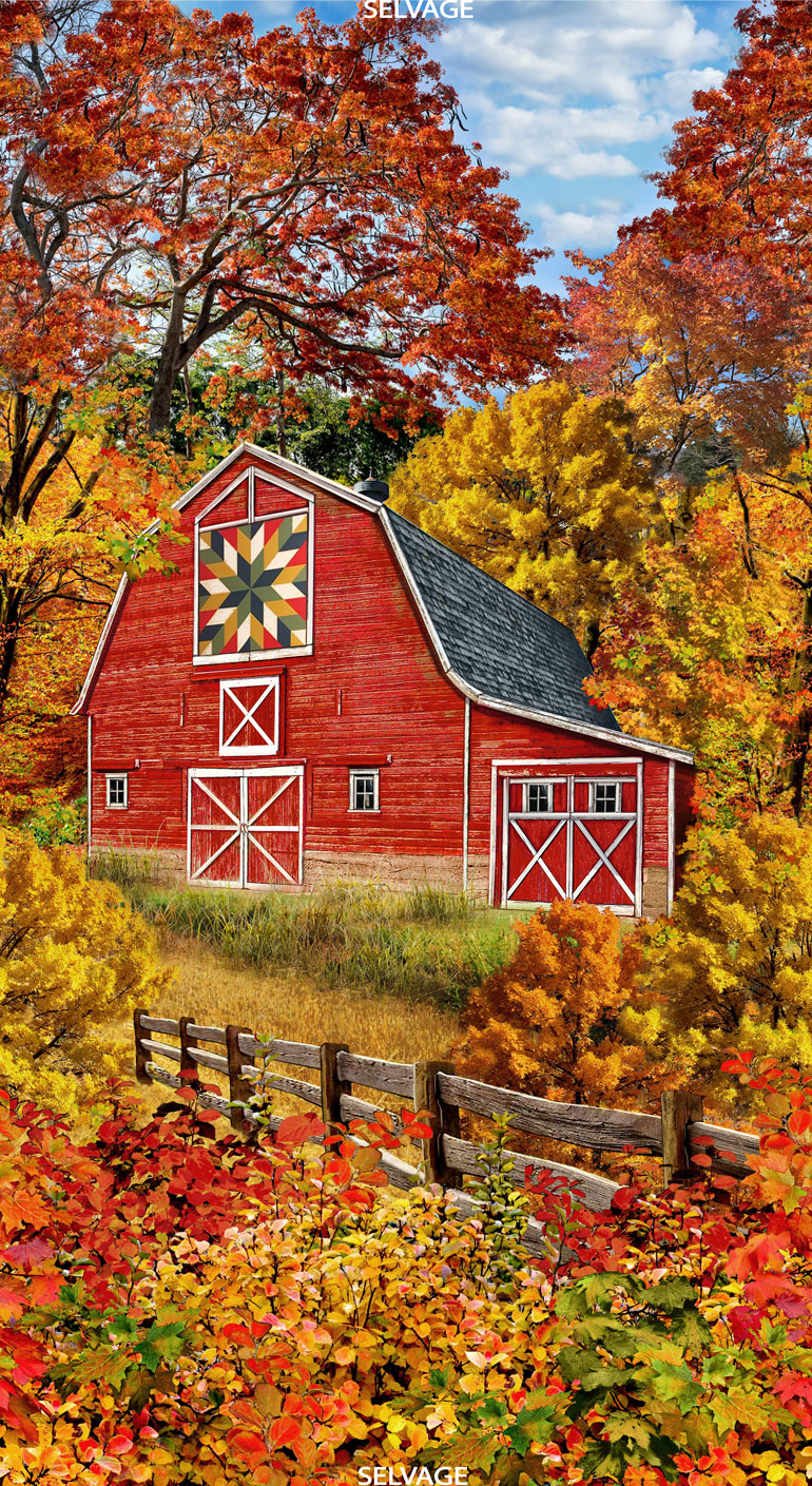 Autumn Barn Panel