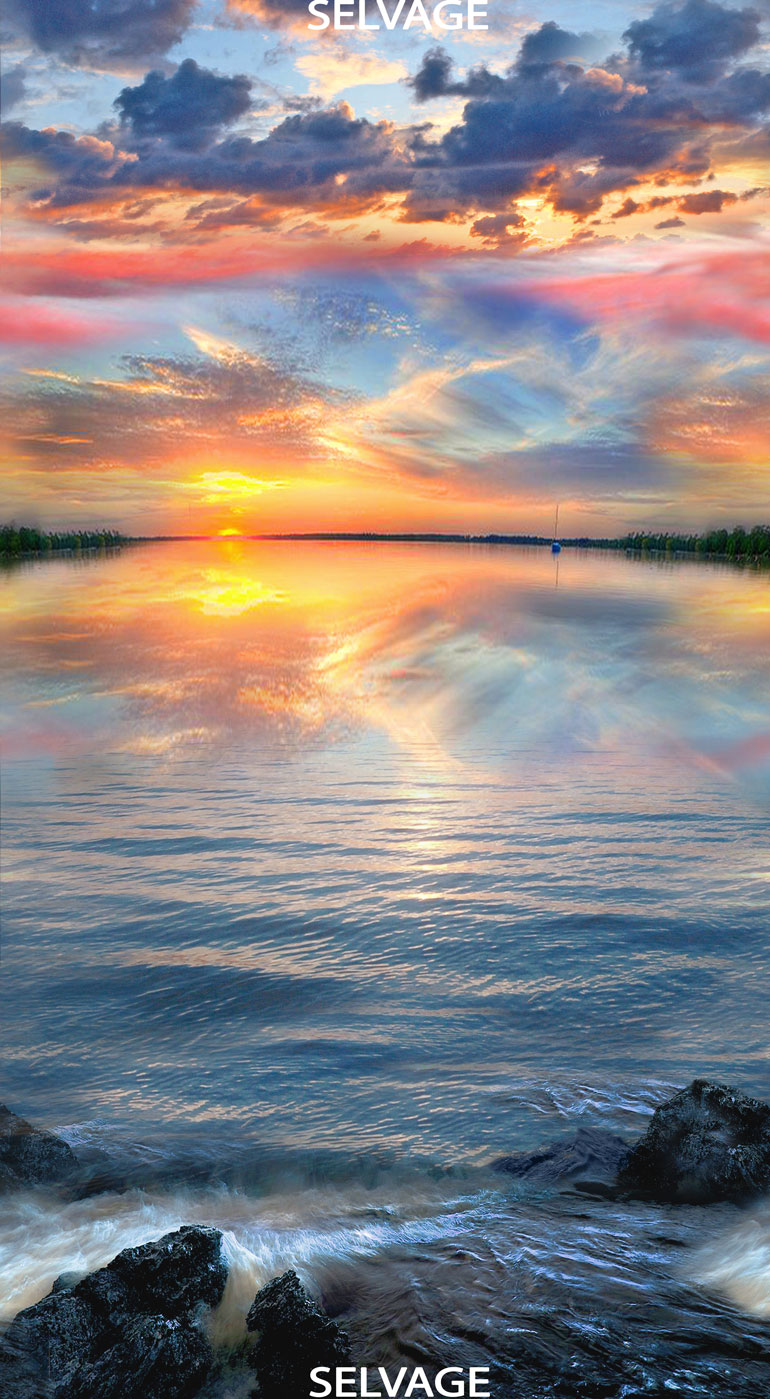 Sunset on Water Panel 24 Inch Panel
