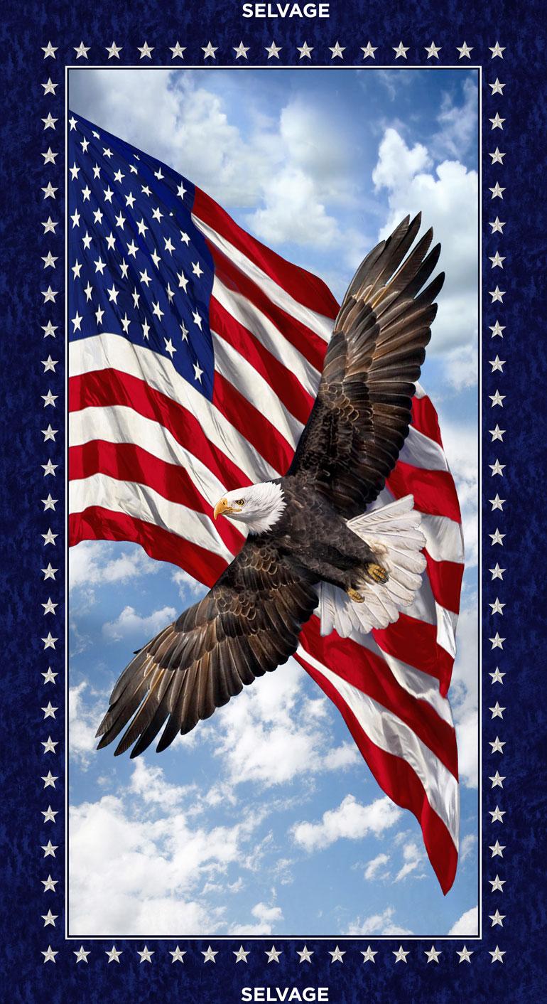 24 Patriotic Eagle Panel
