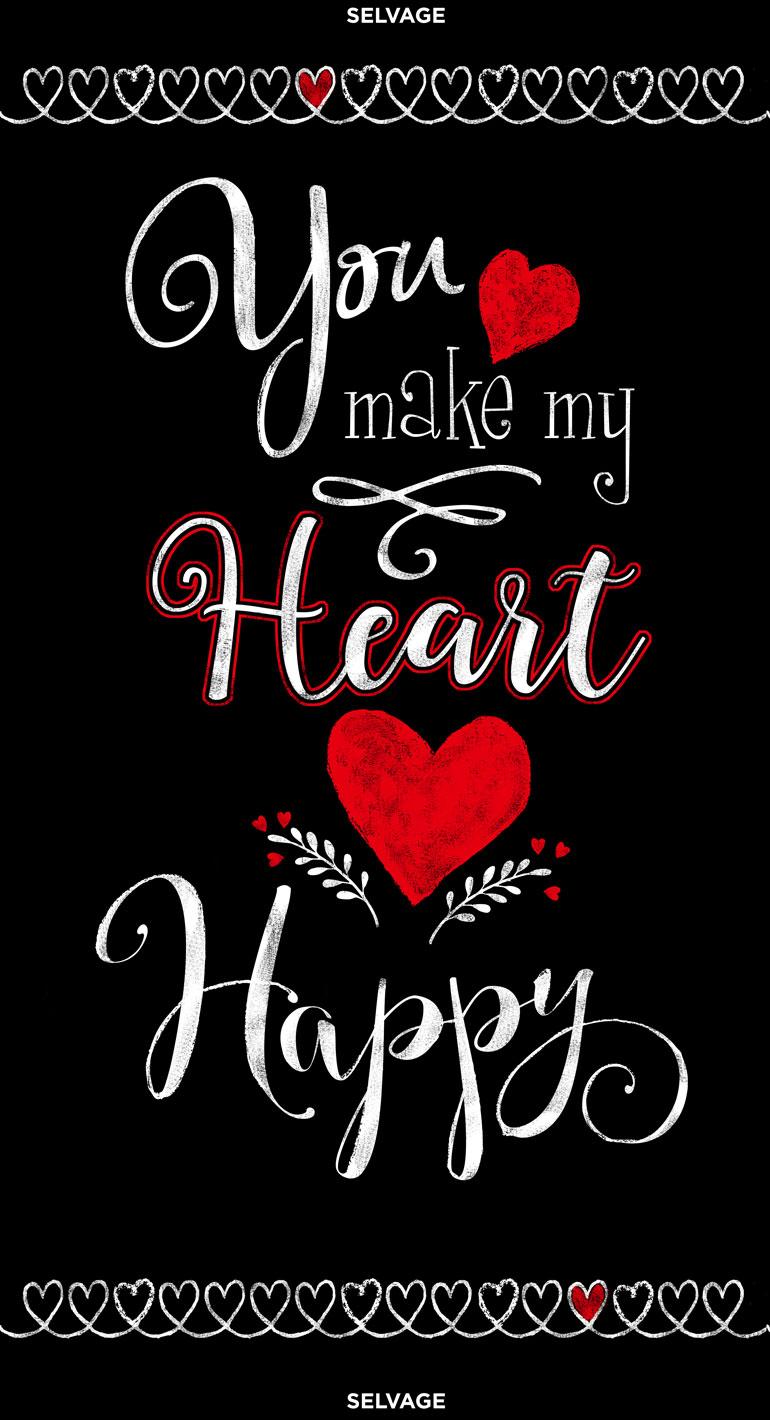 24 Inch You Make My Heart Happy Panel