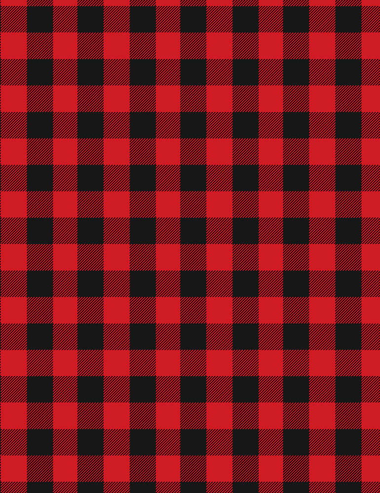 Lakeside Cabin Buffalo Check Plaid Red/Black