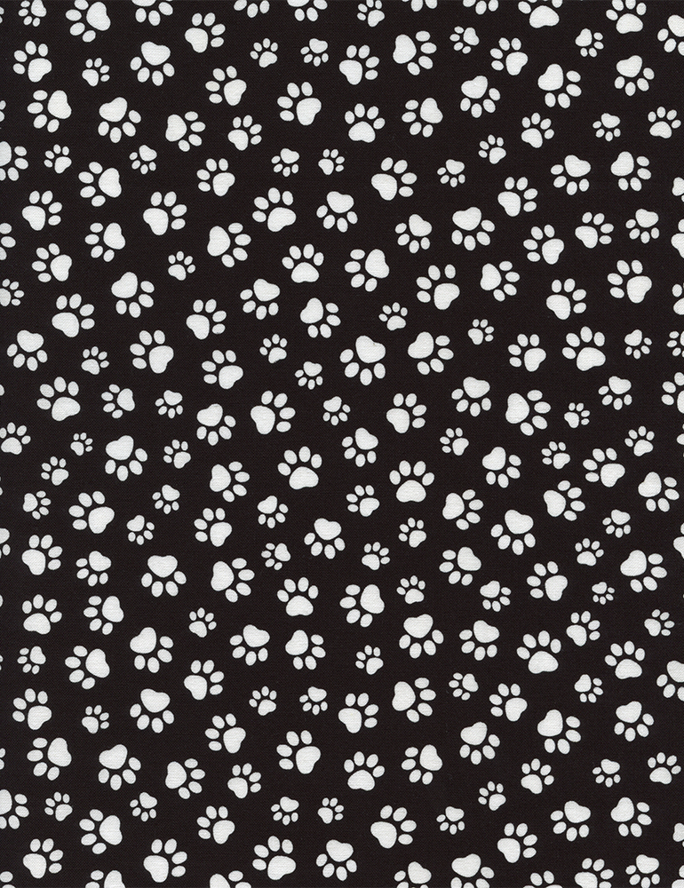 Paw Prints black/white PAW-C1846 Timeless Treasures