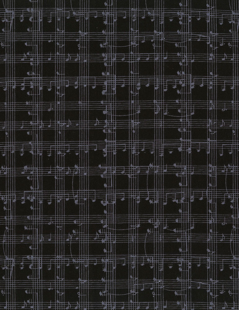 TT- Music Notes Grid Black