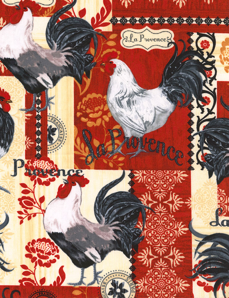 French Rooster Patchwork