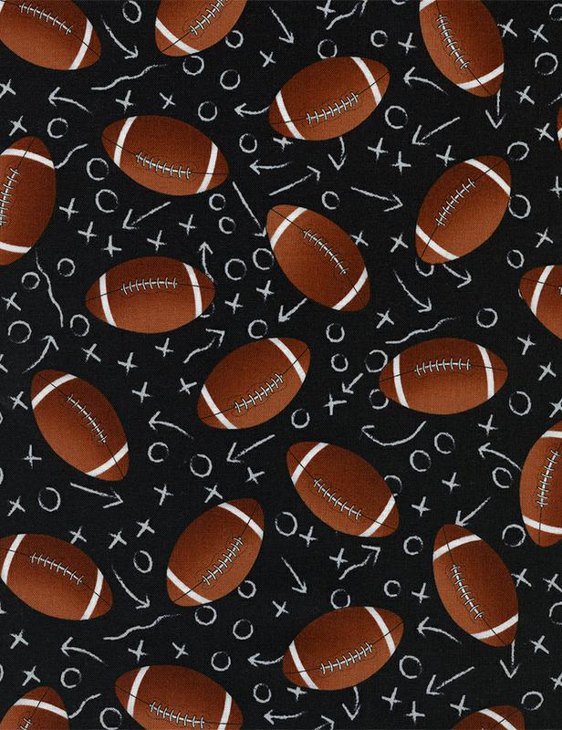 BLACK TOSSED FOOTBALLS