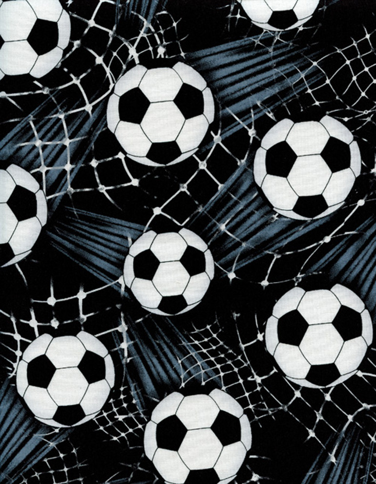 BLACK TOSSED SOCCERBALLS