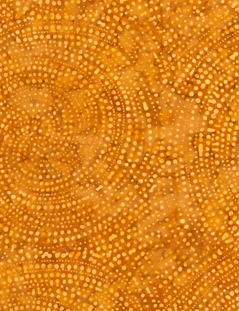 Dotty Spiral Batik Amber