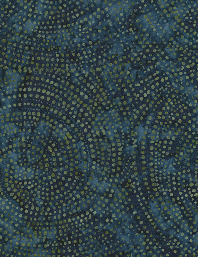 Denim dotty spiral batik TONGA-B2336-DENIM Color Wheel 1 Tonga Batik Timeless Treasures