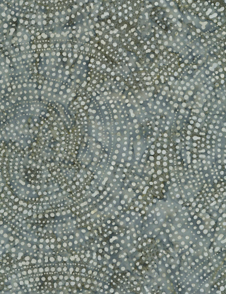 Pewter dotty spiral batik TONGA-B2336-PEWTER Color Wheel 1 Tonga Batik Timeless Treasures