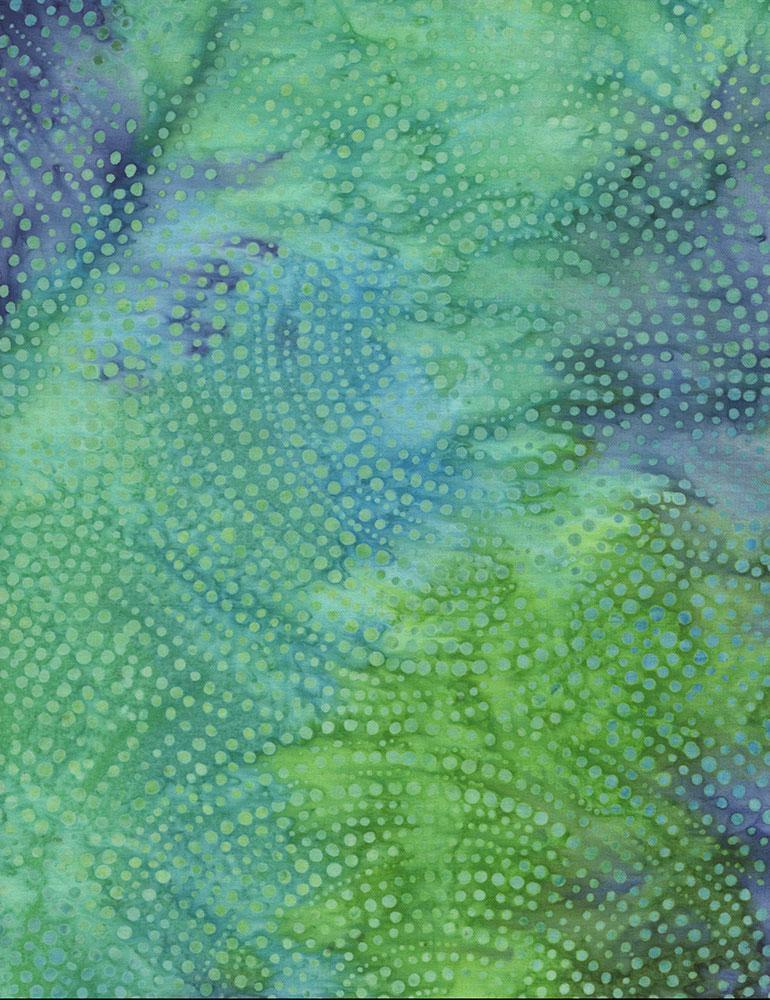 Dotty Spiral Batik-sea