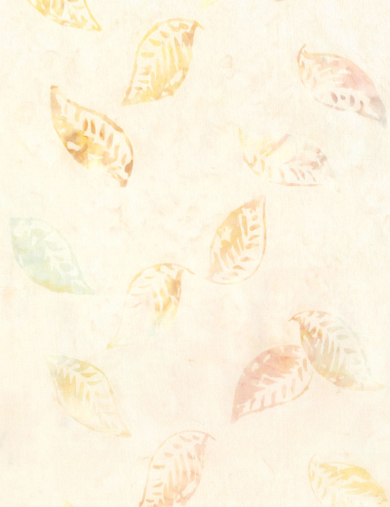 Timeless Treasures  Floating Leaves Batiks Whisper