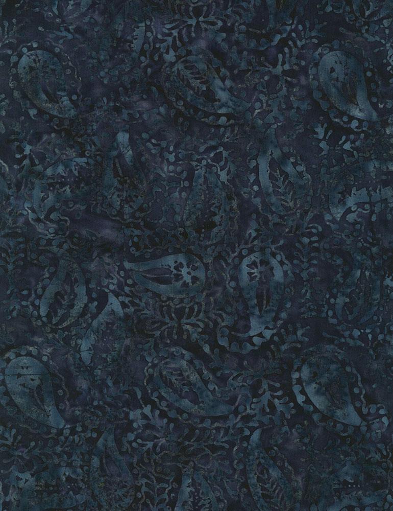 Lush Paisley Batik B4166 Ink