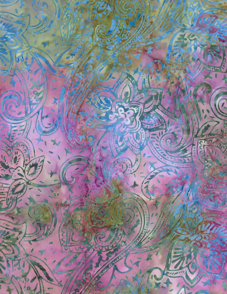 Jacobean Paisley Batik B5406-Terrain