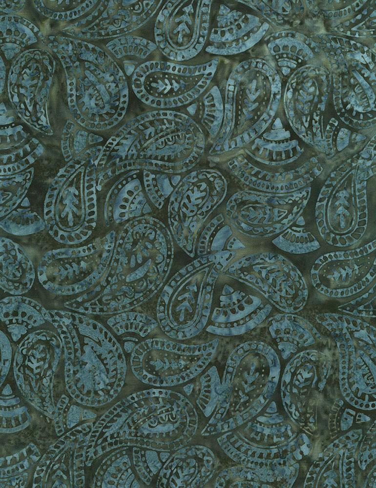 Tonga B5410 Twilight Folksy Paisley Batik