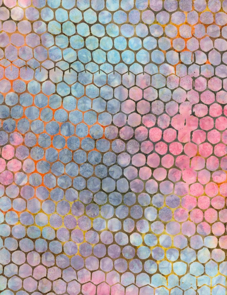 Water Color Circles Batik B5945 Cascade