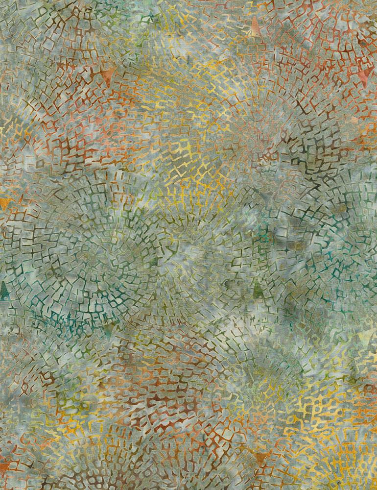 Tonga Spa Day Circle Mosaic Batik Tonga-B5976-Storm