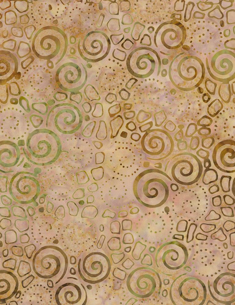 Half Meter Small Spiral Batik Tonga-B5981-Peach