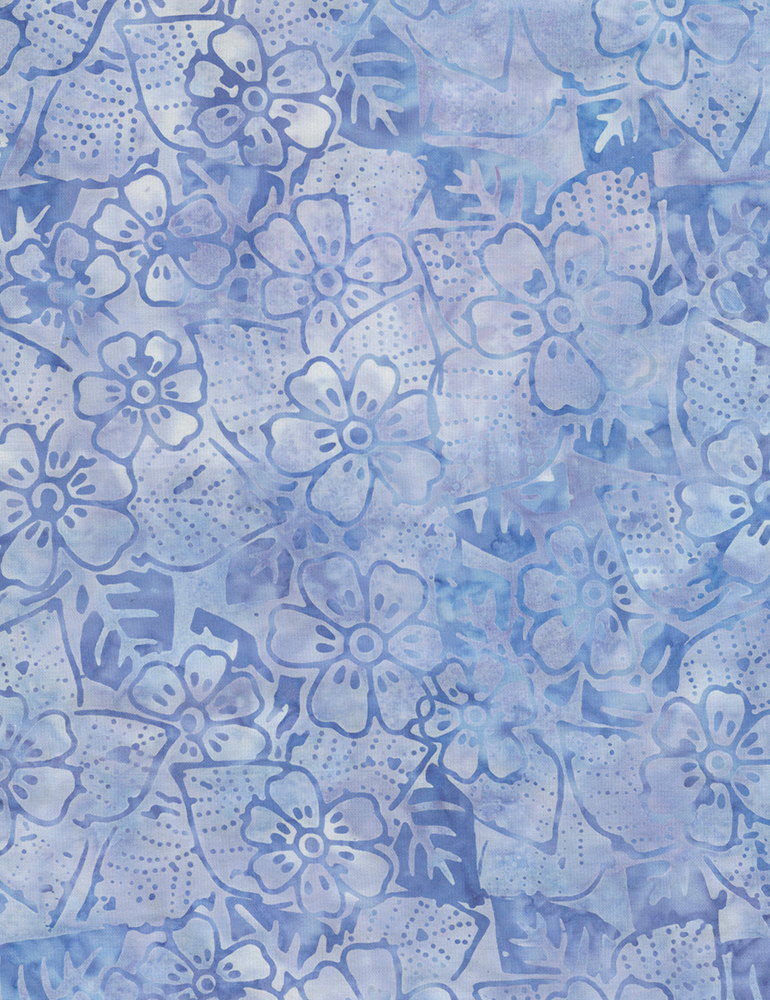 Fabric Batik Timeless Treasures Summer Flower