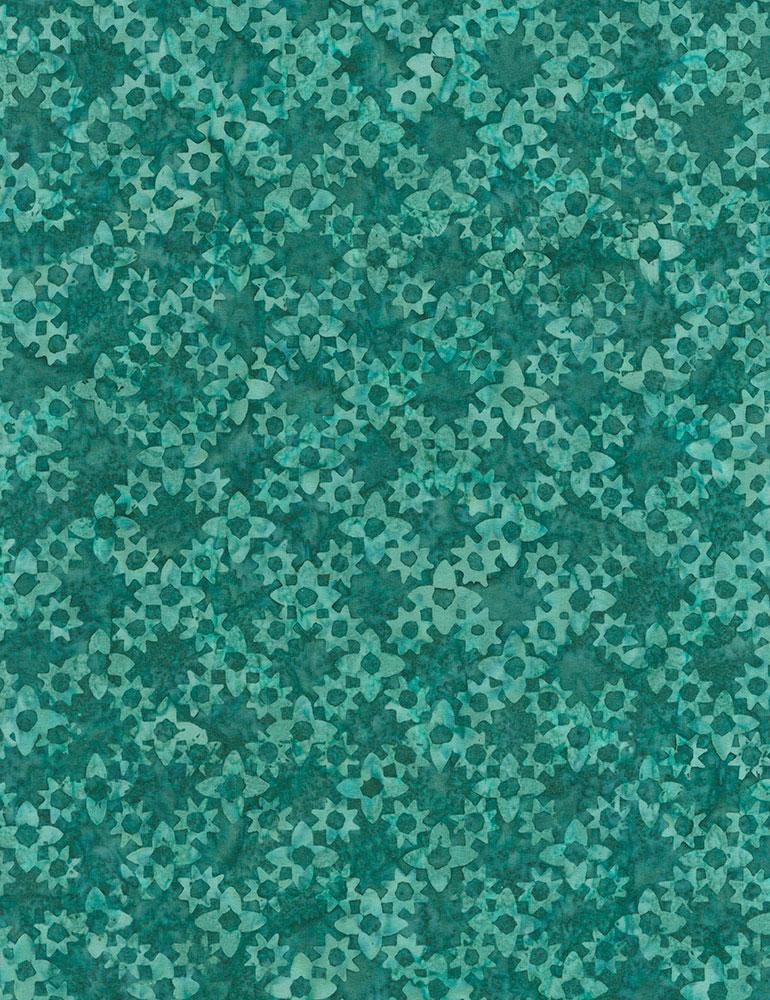 Tonga Spa Day Floral Grove Batik Tonga-B6042-Emerald
