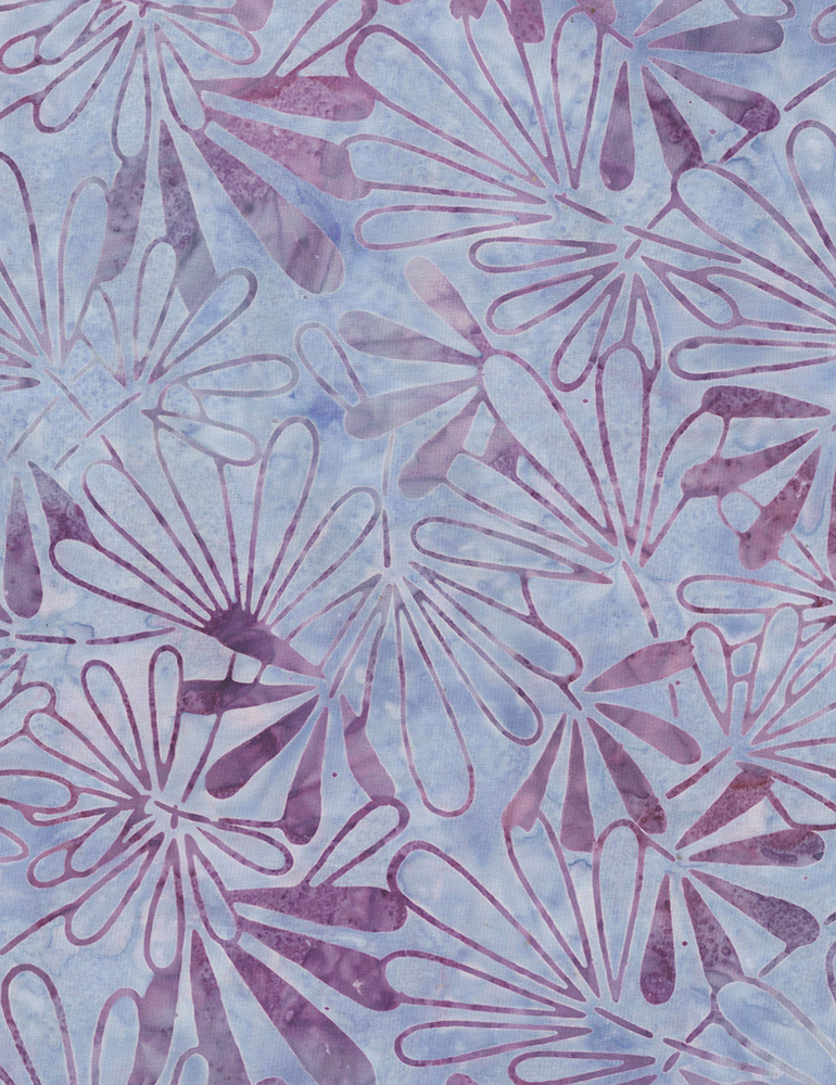 Fabric Batik Timeless Treasures Tiki Periwinkle