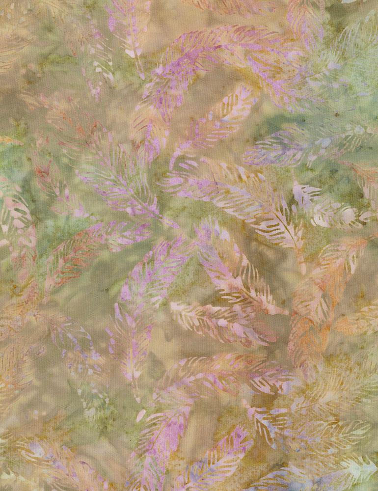 Timeless Treasures Feathers Batik Tonga-B6347-Fern