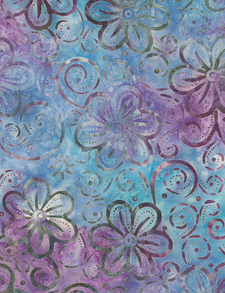 Fabric Batik Timeless Treasures Hawaii Magic