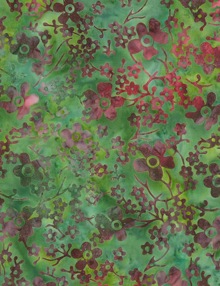 Flower Garden Batik B6388 Jade
