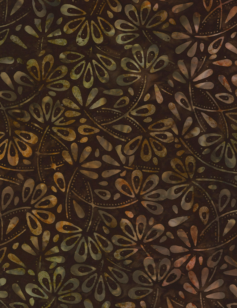 Park Plaza Flower Field Batik B6746 Fudge