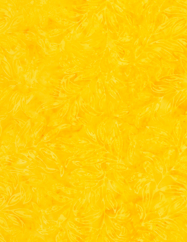 Fern Leaf Outline Batik Lemon