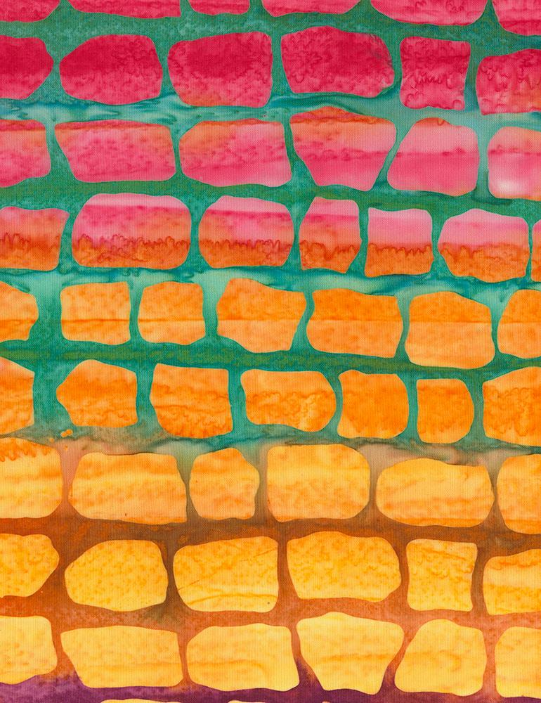 Timeless Treasures Aruba Brick Batiks