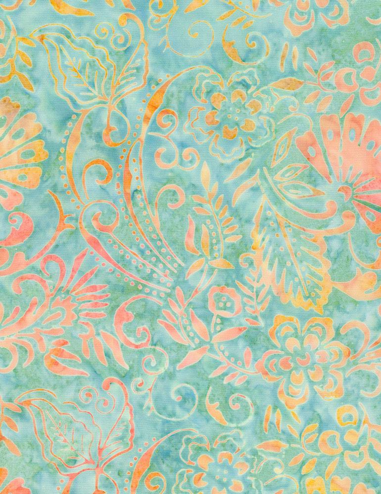 Flower Scroll Tonga Batik (#7282)