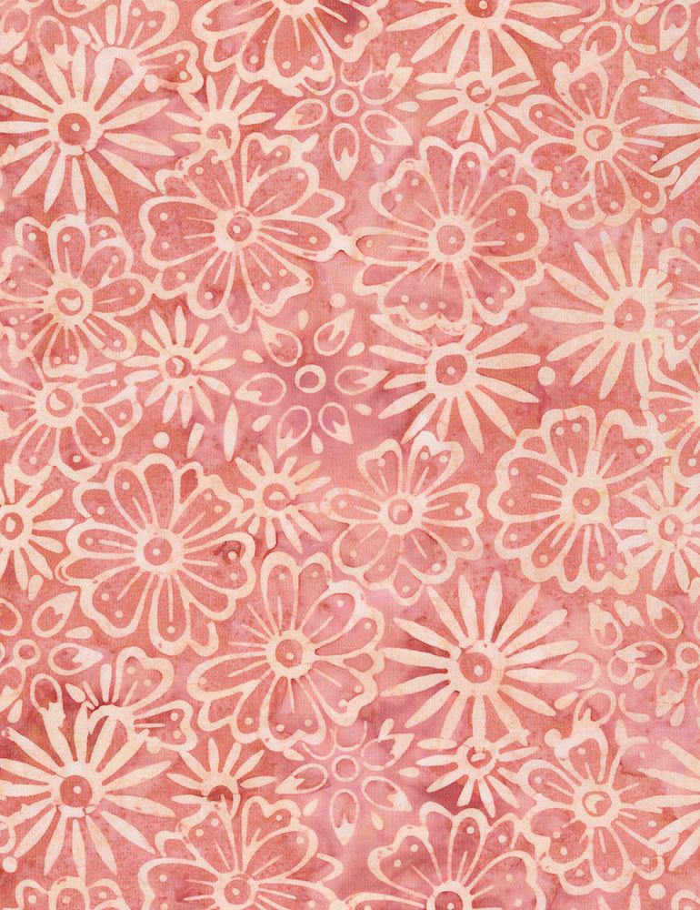 Timeless Treasures Daisy Batik Tonga-B7140-Peony