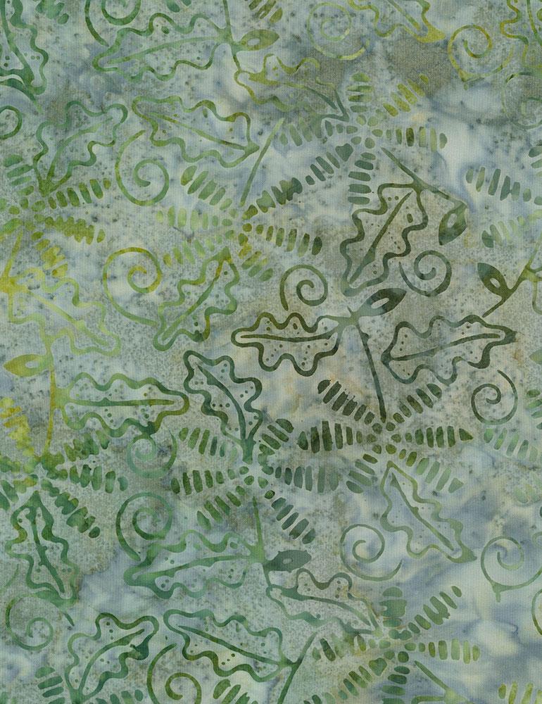 Timeless Treasures Fall Hike Batik Tonga-B7141 Ivy