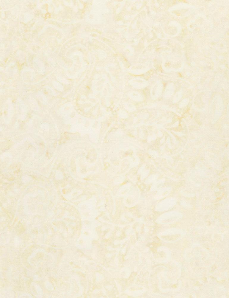 Paisley Leaves Batik- Tonga-B7454 Sand