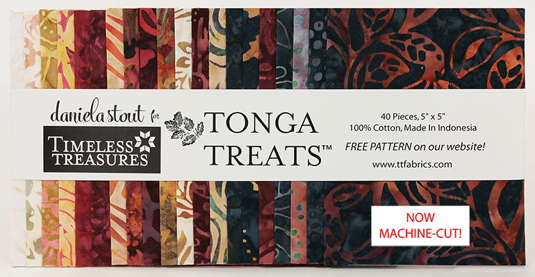 Tonga Treat Minis (5 Inch Squares) in Fireside - 4p pieces