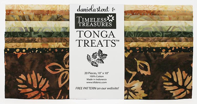 Tonga Treat Shortcake Batik Nutmeg (20 - 10 Inch Squares) - Timeless Treasures
